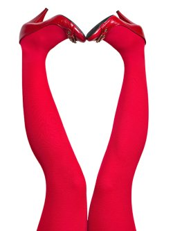 du Milde tights 60 den Sweet Red