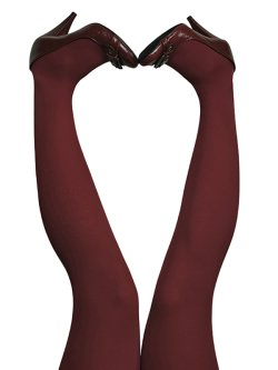 du Milde tights 60 den Dark Cherry